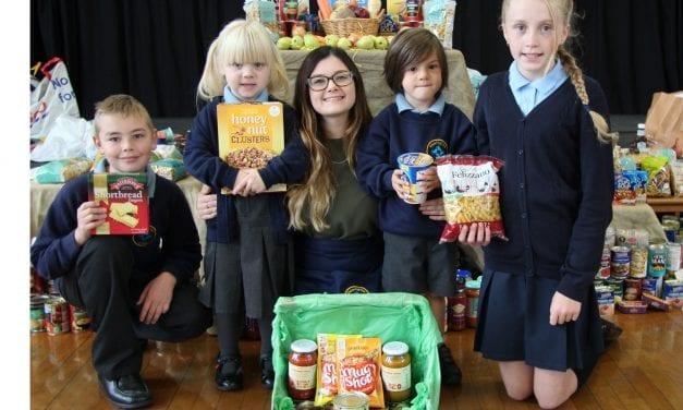 Food Bank Gifts at Harvest Festival