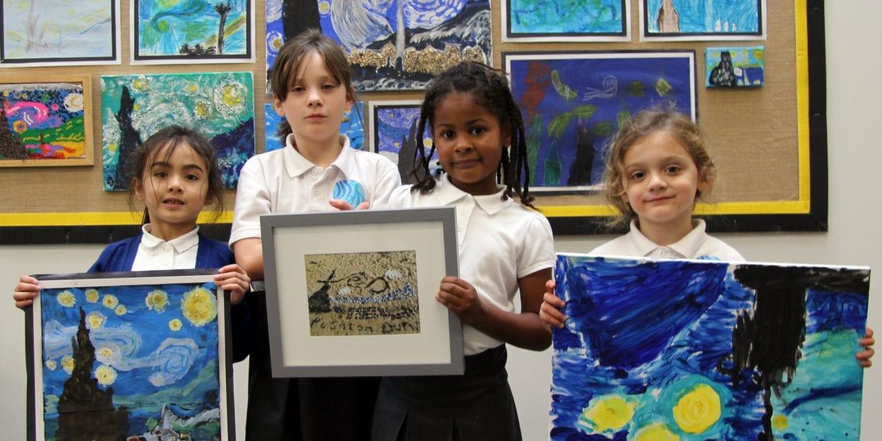 Ramsgate Arts Primary School Starry Night Art Stars
