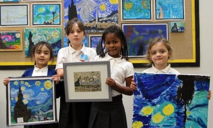 Ramsgate Arts Primary School Starry Night Art Stars