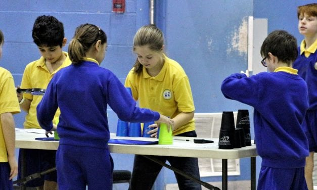 Canterbury Students Show off Speed Stacking Skills