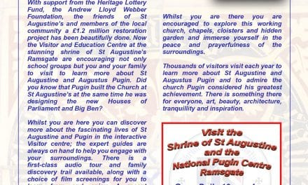Visit the Newly Refurbished Shrine of St Augustine and the National Pugin Centre Ramsgate