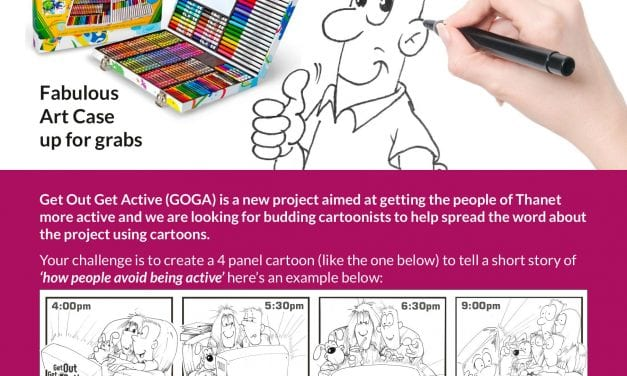 Create a Cartoon Competition with GOGA Thanet brought to you by Your Leisure.