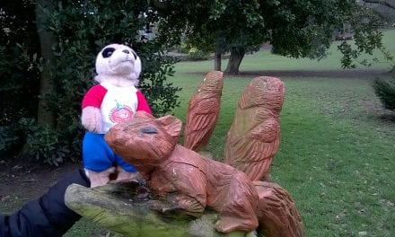From the Adventures of Charlie the Meerkat … 'Ellington Park and Thanet Rock Hunting' by Young Reporter, Nadia