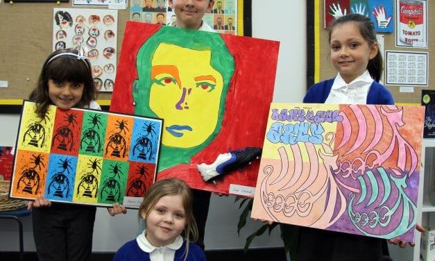 Pop Art Pupils at Ramsgate Arts Primary School.