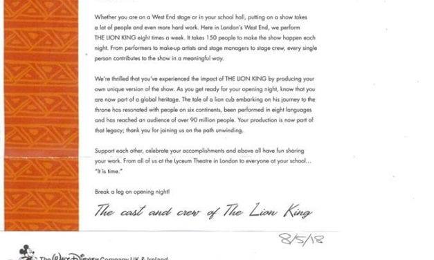 Lion King Stars Tell Newington Community Primary School to 'Break a Leg!'