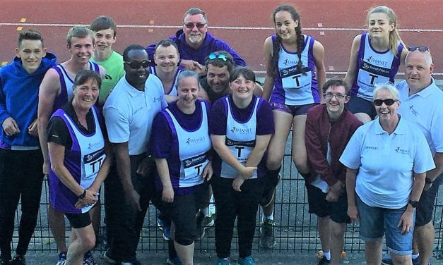 Thanet Athletics Club Pull Together at Erith Meet