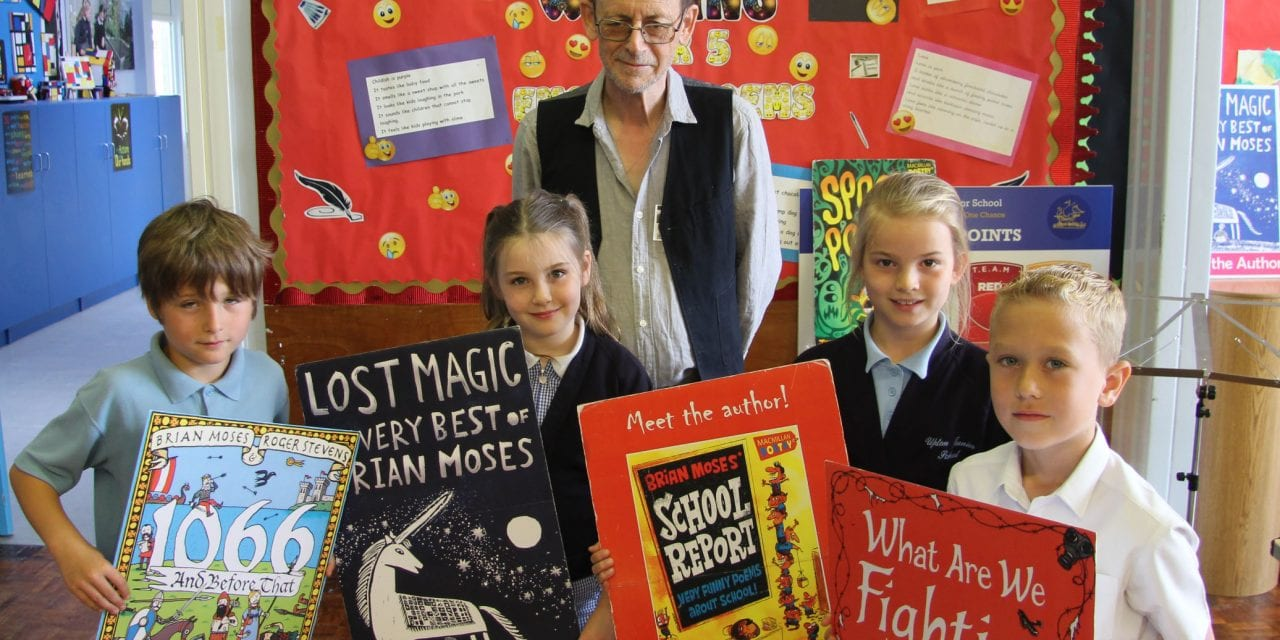 Top Writer Brian Inspires Children at Upton Junior School.