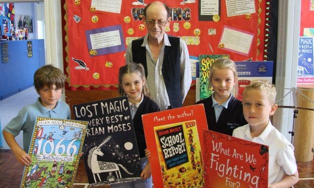 Top Writer Brian Inspires Children at Upton Junior School.