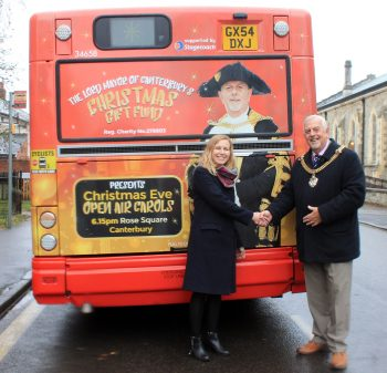 Canterbury's Christmas bus unveiled by Lord Mayor