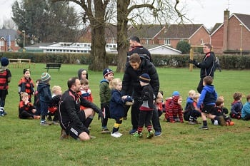 Under 6 Wanderer Trains With Jonny Wilkinson