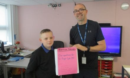 British Values – Laleham Gap pupils quiz local MP