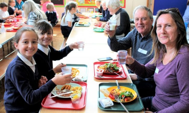 School Lunch is a Big Hit with Grandparents