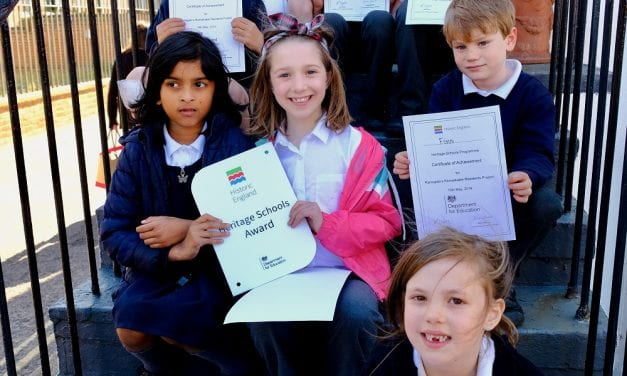 Heritage Award is given to 'Time Detectives' at Ramsgate's Priory Infant School